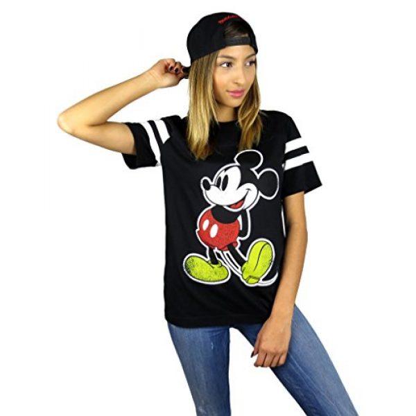 Disney Graphic Tshirt 4 Womens Mickey Mouse Varsity Football Tee