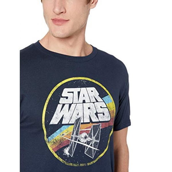 Star Wars Graphic Tshirt 2 Classic Logo and Tie Fighter Men's Short Sleeve T-Shirt