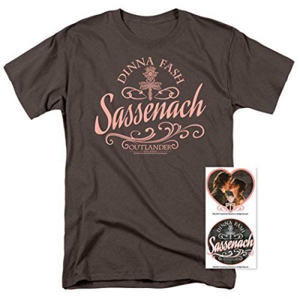 Popfunk Graphic Tshirt 2 Outlander Dinna Fash Sassenach T Shirt & Stickers