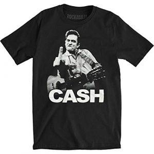 Johnny Cash Graphic Tshirt 1 Mens The Bird T-Shirt