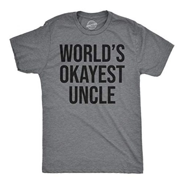 Crazy Dog T-Shirts Graphic Tshirt 1 Worlds Okayest Uncle T Shirt Funny Saying Family Graphic Funcle Sarcastic Tee
