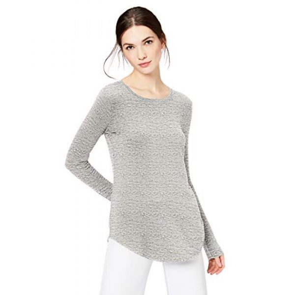 Daily Ritual Graphic Tshirt 1 Amazon Brand - Daily Ritual Women's Supersoft Terry Long-Sleeve Shirt with Shirttail Hem