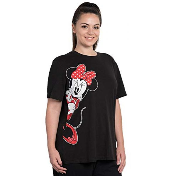 Disney Graphic Tshirt 1 Womens Plus Size T-Shirt Minnie Mouse Print Black