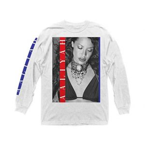 Ripple Junction Graphic Tshirt 1 Aaliyah Red and Blue Stripes Long Sleeve Crew T-Shirt