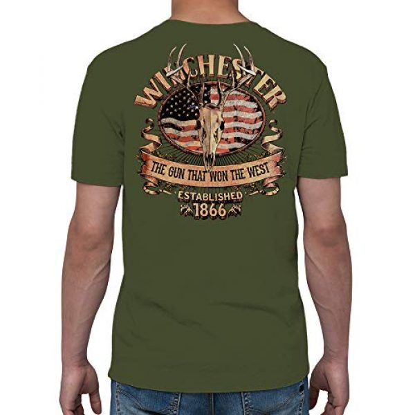 WINCHESTER SHIRTS Graphic Tshirt 3 Winchester Official Men's American Deer Skull Graphic Short Sleeve Cotton T-Shirt (Regular, Big and Tall Size)
