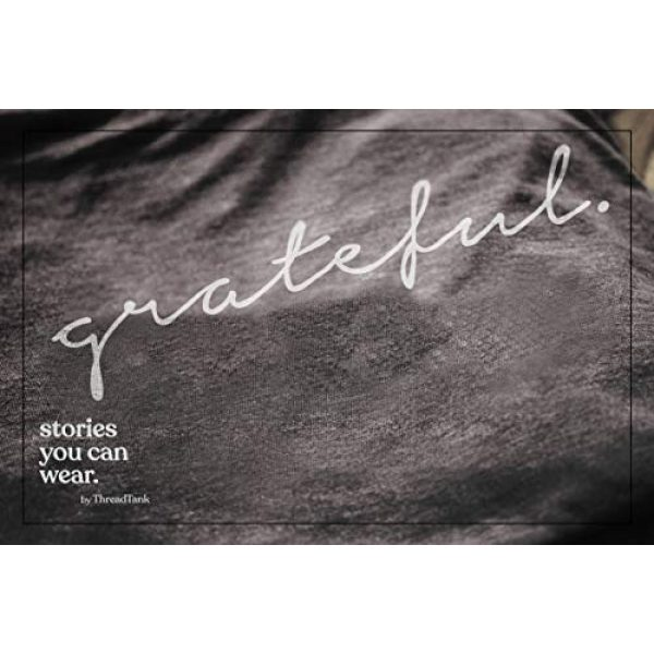 Thread Tank Graphic Tshirt 3 Grateful Women's Fashion Relaxed V-Neck T-Shirt Tee