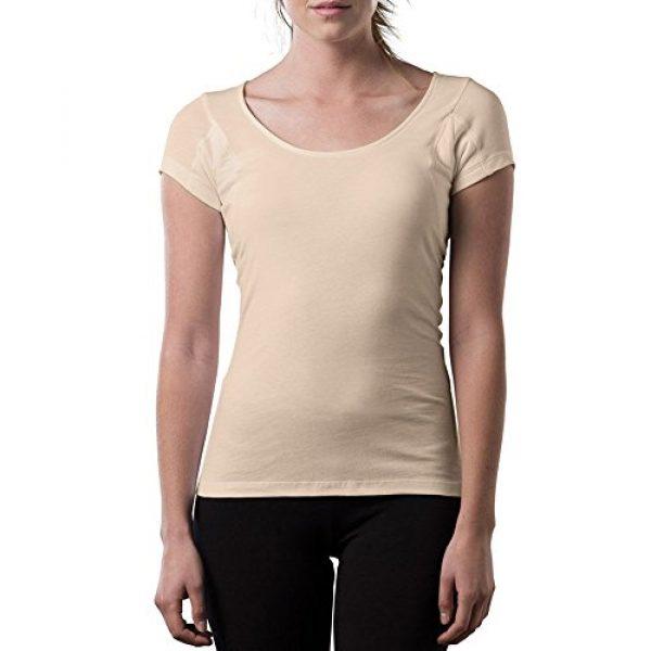 T THOMPSON TEE Graphic Tshirt 1 Sweatproof Undershirt for Women w/Underarm Sweat Pads (Original Fit,Scoop Neck)