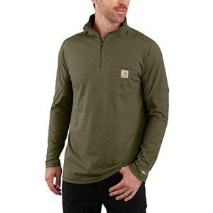 Carhartt Graphic Tshirt 1 Men's Force Relaxed Fit Long Sleeve Quarter Zip Pocket T-Shirt