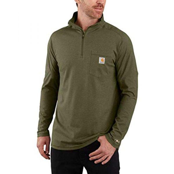 Carhartt Graphic Tshirt 1 Men's Force Relaxed Fit Long Sleeve Quarter Zip Pocket T-Shirt