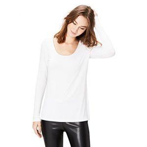 Daily Ritual Graphic Tshirt 1 Amazon Brand - Daily Ritual Women's Jersey Long-Sleeve Scoop Neck T-Shirt