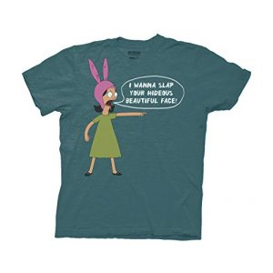 Ripple Junction Graphic Tshirt 1 Bob's Burgers I Wanna Slap Your Face Adult T-Shirt
