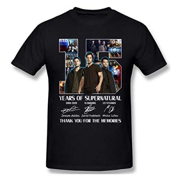 CrazyCoolArt Graphic Tshirt 1 Men's Novelty Shirts Fashion 15 Years of Supernatural Graphic Printed Casual Short Sleeve T-Shirt Black