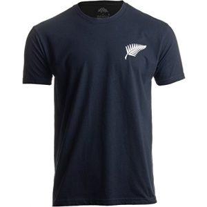 Ann Arbor T-shirt Co. Graphic Tshirt 1 New Zealand Pride | Kiwi Silver Fern Southern Cross Men Women Black T-Shirt