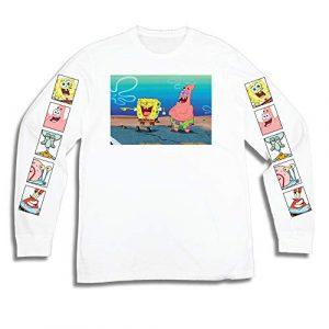 Nickelodeon Graphic Tshirt 1 Mens Spongebob Squarepants Shirt - Spongebob, Patrick & Krusty Krab Long Sleeve Tee