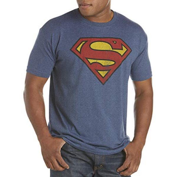 True Nation Graphic Tshirt 1 by DXL Big and Tall Classic Superman Logo Graphic Tee