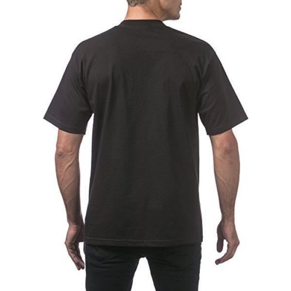 Pro Club Graphic Tshirt 3 Men's 6-Pack Heavyweight Cotton Short Sleeve Crew Neck T-Shirt