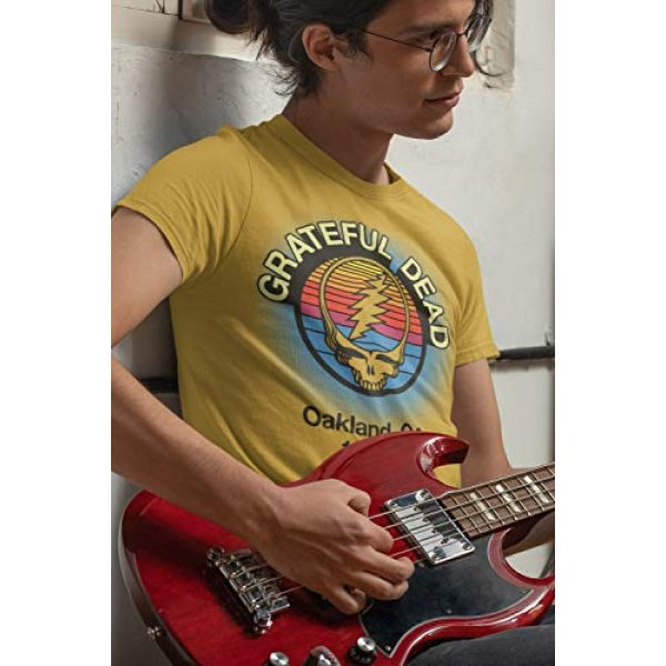 Ripple Junction Graphic Tshirt 4 Grateful Dead Adult Unisex Oakland 88 Light Weight 100% Cotton Crew T-Shirt