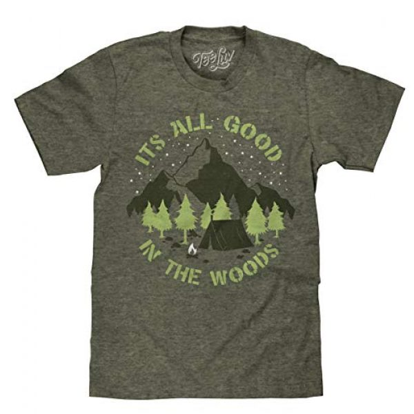 Tee Luv Graphic Tshirt 1 It's All Good in The Woods T-Shirt - Graphic Camping Shirt