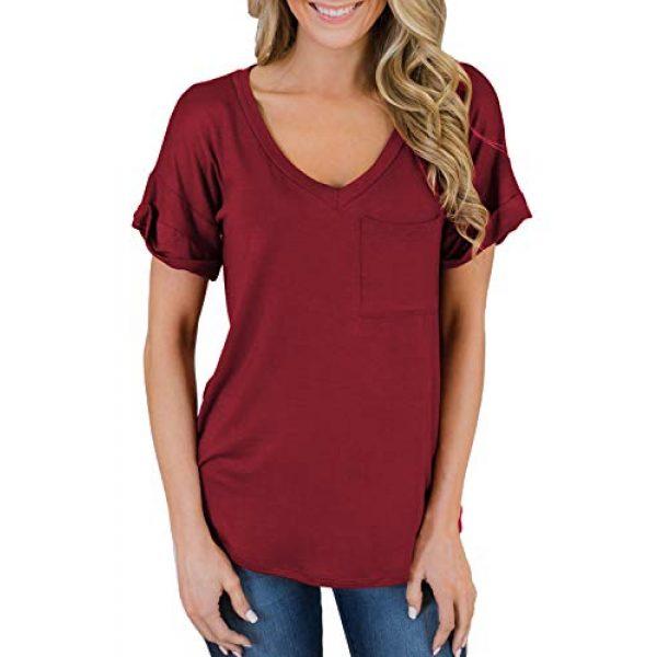 MIHOLL Graphic Tshirt 3 Women's Short Sleeve V-Neck Shirts Loose Casual Tee T-Shirt