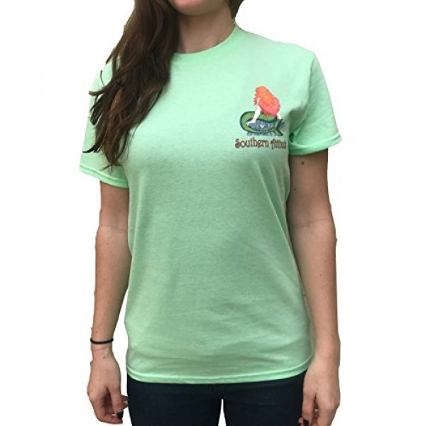 Southern Attitude Graphic Tshirt 2 in A Sea of A Million Fish Be A Mermaid Mint Women's Short Sleeve T-Shirt