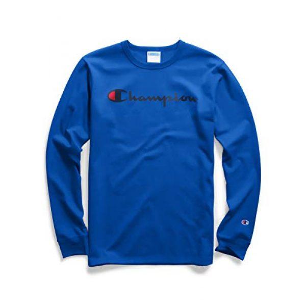 Champion Graphic Tshirt 1 Men's Heritage Script Graphic Long Sleeve T-Shirt