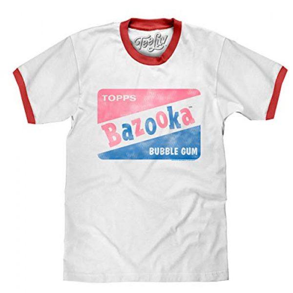 Tee Luv Graphic Tshirt 1 Bazooka Bubble Gum Shirt - Retro Topps Candy Ringer Tee Shirt