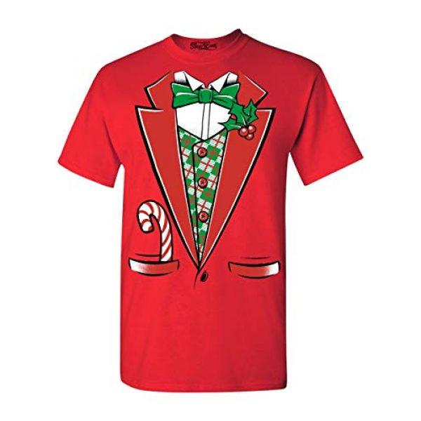 Shop4Ever Graphic Tshirt 1 Tuxedo Christmas Costume T-Shirt Xmas Shirts