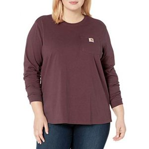 Carhartt Graphic Tshirt 1 Women's K126 Workwear Pocket Long Sleeve T-Shirt (Regular and Plus Sizes)
