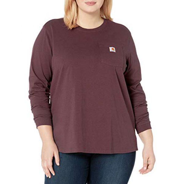 Carhartt Graphic Tshirt 1 Women's K126 Workwear Pocket Long Sleeve T-Shirt (Regular and Plus Sizes)