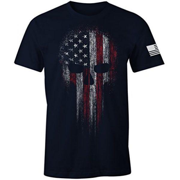 Fantastic Tees Graphic Tshirt 1 USA Military American Skull Flag Patriotic T-Shirt