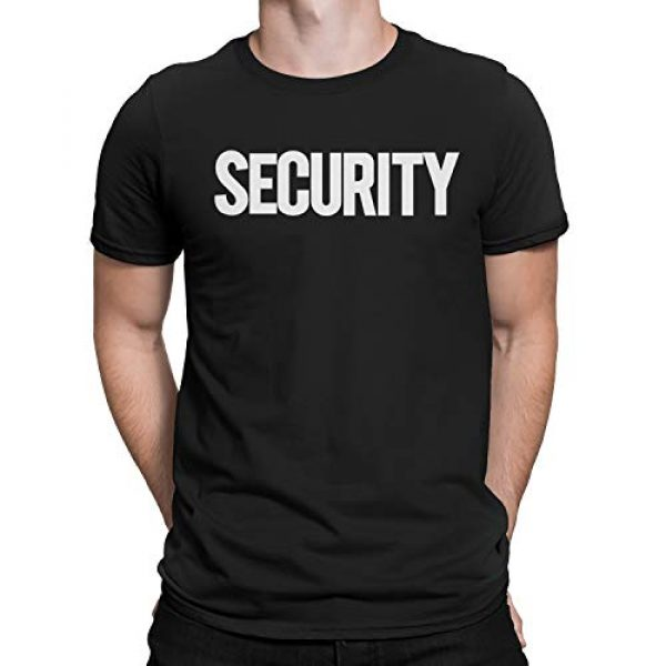 NYC FACTORY Graphic Tshirt 1 Security T-Shirt Front Back Print Mens Tee Staff Event Uniform Bouncer Screen Printed