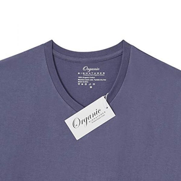 Organic Signatures Graphic Tshirt 5 Men's Short-Sleeve V-Neck 100% Organic Cotton T-Shirt