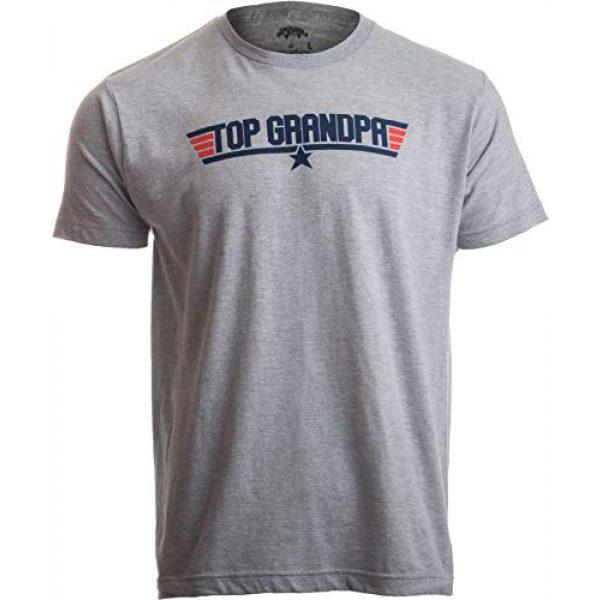 Ann Arbor T-shirt Co. Graphic Tshirt 1 Top Grandpa | Funny 80s Dad Humor Movie Gun 1980s Military Air Force Men T-Shirt