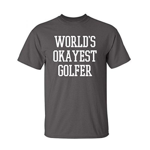 Feelin Good Tees Graphic Tshirt 1 World's Okayest Golfer Sports Golfing Golf Funny T Shirt