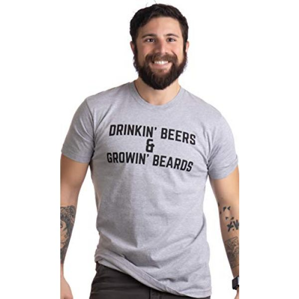 Ann Arbor T-shirt Co. Graphic Tshirt 2 Drinkin' Beers & Growing Beards | Funny Drinking Buddies Beer Games Party T-Shirt