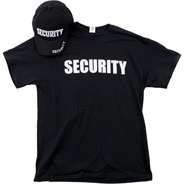 Ann Arbor T-shirt Co. Graphic Tshirt 1 Security Hat & T-Shirt Bundle | Matching Security Guard Officer Uniform Kit