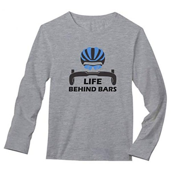 Tstars Graphic Tshirt 1 Life Behind Bars Shirt Gift for Bicycle Riders Funny Bike Long Sleeve T-Shirt