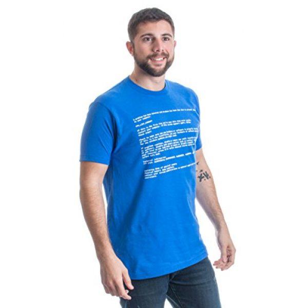 Ann Arbor T-shirt Co. Graphic Tshirt 3 Blue Screen of Death   Geeky Windows Error, Funny Computer Nerd Unisex T-Shirt
