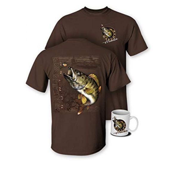 Follow the Action Graphic Tshirt 2 Walleye Hunter Fishing T-Shirt and Mug Premium Gift Set