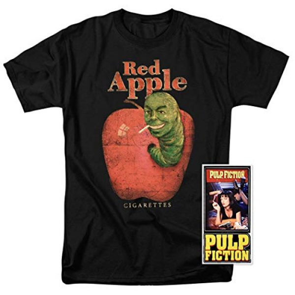 Popfunk Graphic Tshirt 2 Pulp Fiction Movie Red Apple Cigarettes T Shirt & Stickers