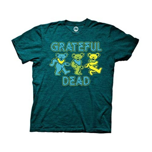 Ripple Junction Graphic Tshirt 1 Grateful Dead Three Dancing Bears Adult T-Shirt