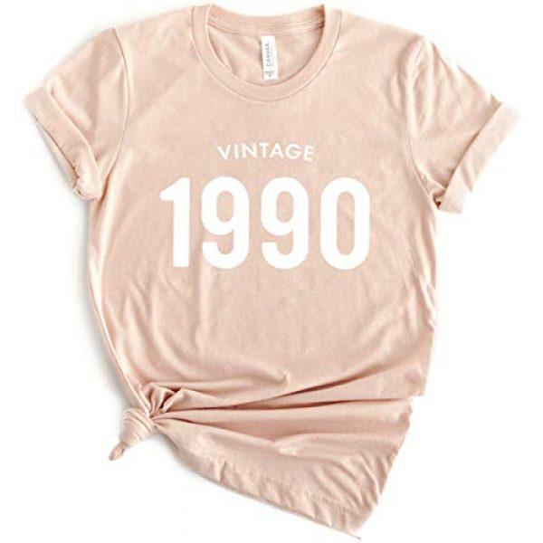 Create5 Clothing Graphic Tshirt 1 30th Birthday 1991 T-Shirt Short Sleeve Casual Vintage 90s Womens Tee Shirt