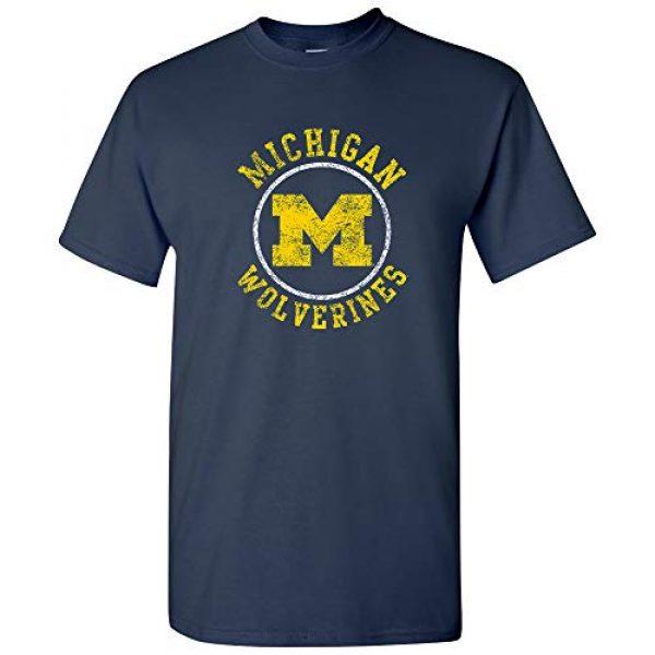 UGP Campus Apparel Graphic Tshirt 1 NCAA Distressed Circle Logo, Team Color T Shirt, College, University