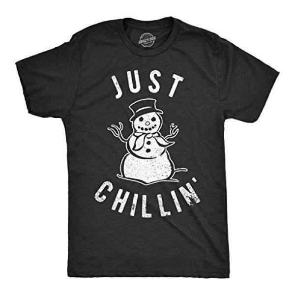 Crazy Dog T-Shirts Graphic Tshirt 1 Mens Just Chillin Snowman T Shirt Hilarious Saying Funny Christmas Novelty Guys
