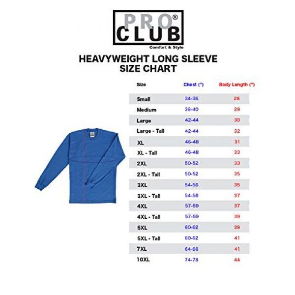 Pro Club Graphic Tshirt 6 Men's 3-Pack Heavyweight Cotton Long Sleeve Crew Neck T-Shirt