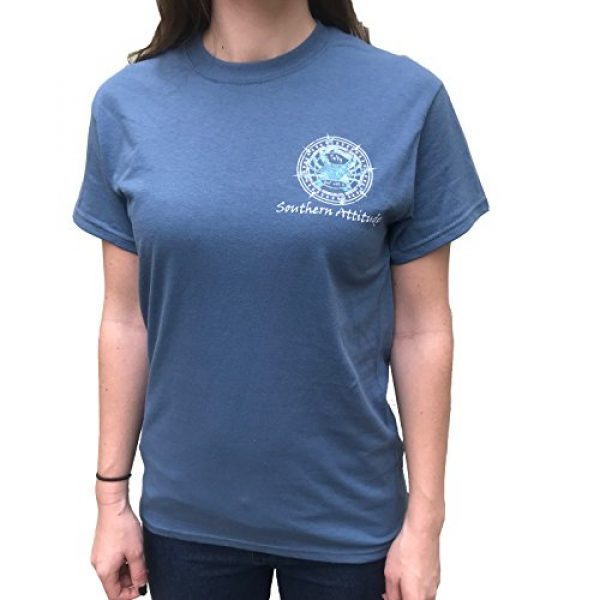 Southern Attitude Graphic Tshirt 2 Salty Deal with It Crab Indigo Blue Short Sleeve T-Shirt
