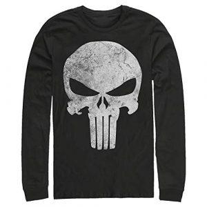Fifth Sun Graphic Tshirt 1 Men's Marvel Punisher Retro Skull Symbol Long Sleeve Shirt
