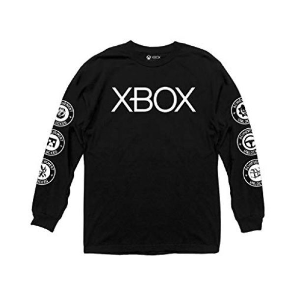 Ripple Junction Graphic Tshirt 1 Xbox Adult Unisex Chest Logo Heavy Weight 100% Cotton Long Sleeve Crew T-Shirt