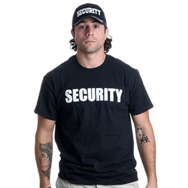 Ann Arbor T-shirt Co. Graphic Tshirt 2 Security Hat & T-Shirt Bundle | Matching Security Guard Officer Uniform Kit