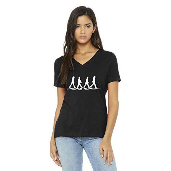 Vincit Veritas Graphic Tshirt 1 Beatles V-Neck T-Shirt Black Abbey Road Crosswalk Tshirt for Women Ladies Girls